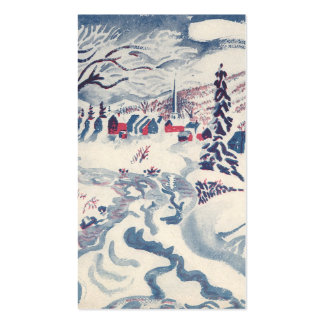 Vintage Christmas, Winter Village Snowscape Pack Of Standard Business Cards