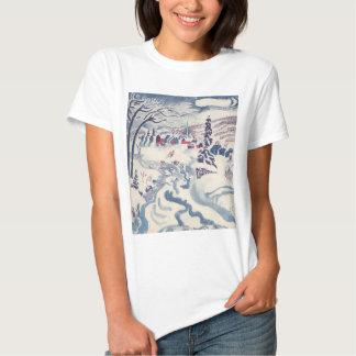 Vintage Christmas, Winter Village Snowscape Shirt