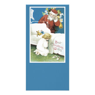 Vintage Christmas Wishes Picture Card