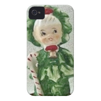 Vintage Christmas Xmas Tree Kid Candy Cane Phone iPhone 4 Cover