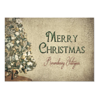 Vintage Christmas - Yesteryear - Texture 13 Cm X 18 Cm Invitation Card