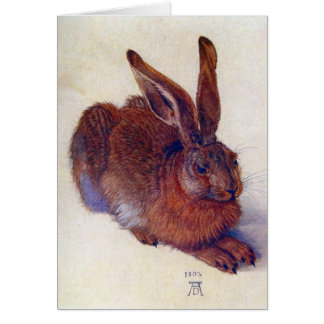 Vintage Christmas, Young Hare by Durer Greeting Card