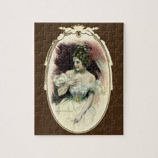 Vintage Christy Girl, Antique Bridal Portrait Jigsaw Puzzle