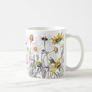Vintage Chrysanthemum Wildflower Flowers Mug