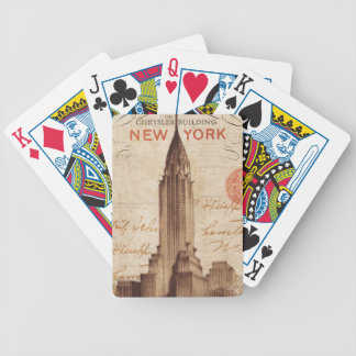 Vintage Chrysler Building in New York Bicycle Playing Cards