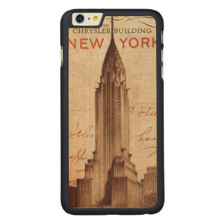 Vintage Chrysler Building in New York Carved Maple iPhone 6 Plus Case