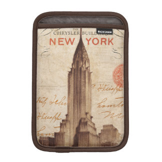 Vintage Chrysler Building in New York iPad Mini Sleeve
