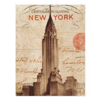 Vintage Chrysler Building in New York Postcard