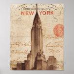 Vintage Chrysler Building in New York Poster