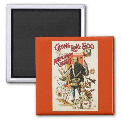 Vintage Chung Ling Soo Magician Poster Fridge Magnets