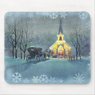 VINTAGE CHURCH by SHARON SHARPE Mouse Mat