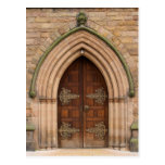 Vintage Church Doors - United Kingdom - Postcard
