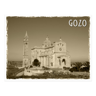 Vintage church RK Gozo, Malta Postcard