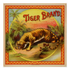Vintage Cigar Advertisement: Tiger Brand Poster