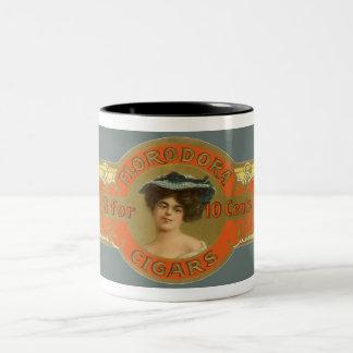 Vintage Cigar Band Label Art, Florodora Cigars Two-Tone Mug