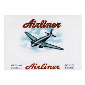 Vintage Cigar Box Label Airliner 1930s Business Card Template