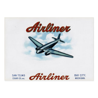 Vintage Cigar Box Label Airliner 1930s Pack Of Chubby Business Cards