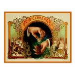 Vintage Cigar Box Label Post Card