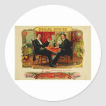 Vintage Cigar Box Label SOCIAL SMOKE  (L4) Round Stickers