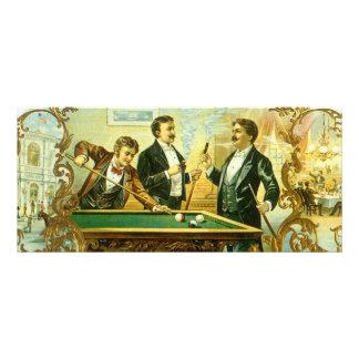 Vintage Cigar Label Art, Club Friends Billiards Customized Rack Card