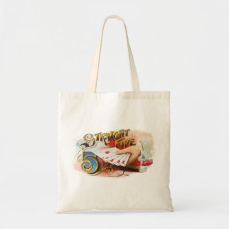 Vintage Cigar Label Art Straight Flush with Hearts Tote Bag