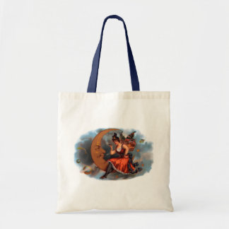 Vintage Cigar Label Art, Victorian Fairy on Moon Tote Bag