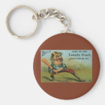 Vintage Cigar Label, Sports Baseball Tansill Punch Basic Round Button Key Ring