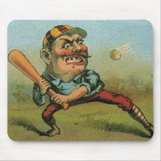 Vintage Cigar Label, Sports Baseball Tansill Punch Mouse Mat