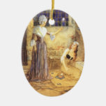 Vintage Cinderella and Fairy Godmother Fairy Tale Christmas Tree Ornaments