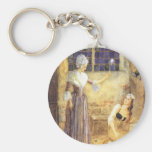 Vintage Cinderella and Fairy Godmother Fairy Tale Key Chain