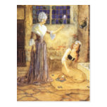Vintage Cinderella and Fairy Godmother Fairy Tale Post Card
