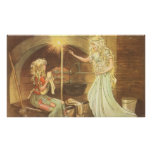 Vintage Cinderella and Fairy Godmother Posters