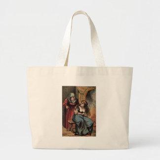 Vintage Cinderella and her Fairy Godmother Jumbo Tote Bag