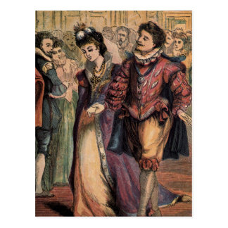 Vintage Cinderella and the Prince at the Ball Postcard