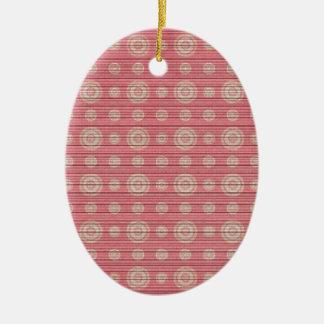 vintage circle pattern ceramic oval decoration