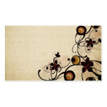 Vintage circles and black flowers Business Card