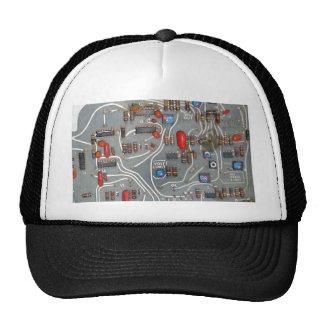 Vintage Circuit Board Electronics Mesh Hat