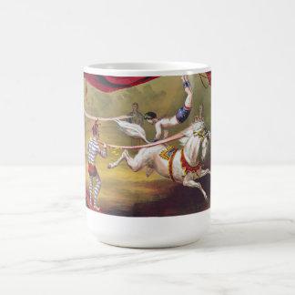 Vintage Circus Art Basic White Mug