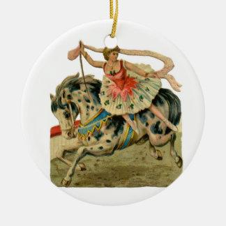 Vintage Circus Ballerina Christmas Ornament