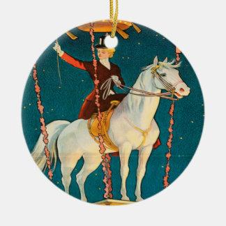 Vintage : circus Barnum & Bailey - Round Ceramic Decoration