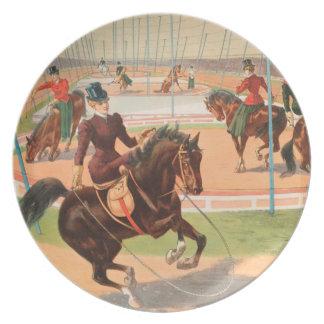 Vintage : circus Barnum & Bailey - Dinner Plates