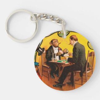 Vintage : circus Barnum & Bailey - Double-Sided Round Acrylic Key Ring