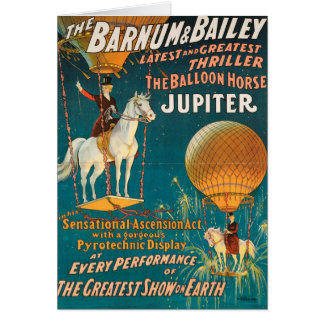 Vintage : circus Barnum & Bailey - Greeting Card