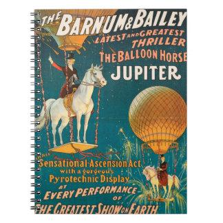 Vintage : circus Barnum & Bailey - Spiral Note Book