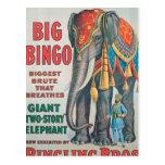 Vintage : circus Barnum & Bailey - Post Card