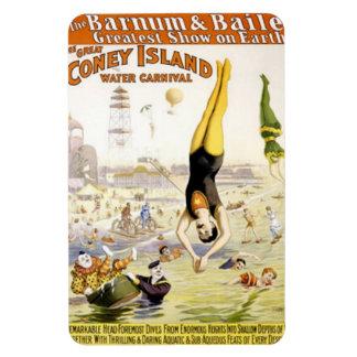 Vintage : circus Barnum & Bailey - Rectangular Photo Magnet