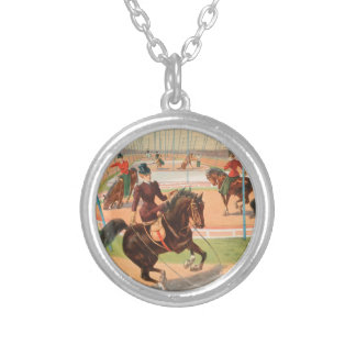 Vintage : circus Barnum & Bailey - Round Pendant Necklace
