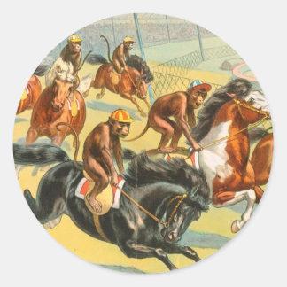 Vintage : circus Barnum & Bailey - Round Sticker