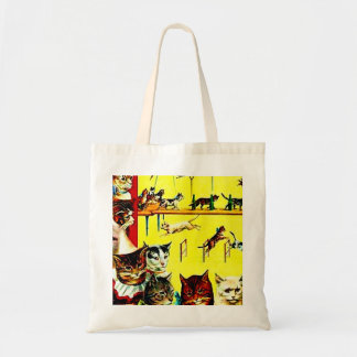 Vintage Circus Cat Act Poster Art Gift Wrap Bag
