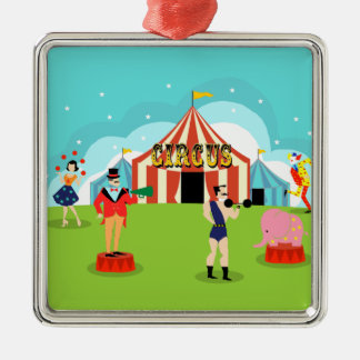 Vintage Circus Christmas Ornament